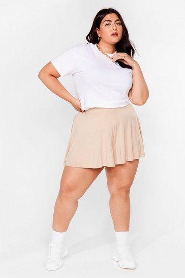 Stone Little Roomy Plus Relaxed Shorts