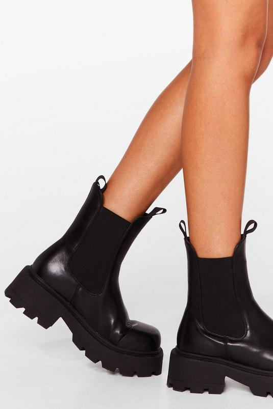 Chunky Square Toe Chelsea Boots   NastyGal (UK, IE)