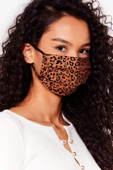 Nude Meow We Like It Leopard Fashion Face Mask