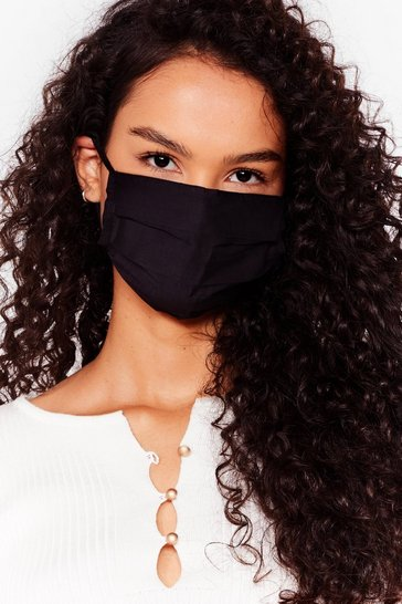 Masque facial fashion en coton, Black