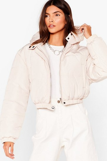 Stone Turn Up the Volume Cropped Padded Jacket