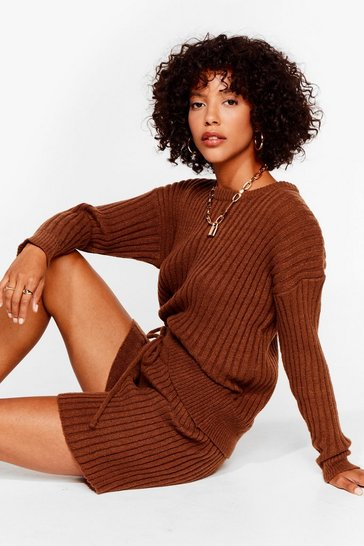 Chocolate Knit's All About You Sweater and Shorts Set