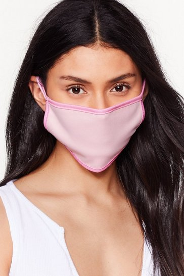 It's Up Two-Tone You Fashion Face Mask, Pink
