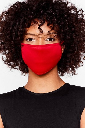 Red Not Just a Pretty Fashion Face Mask