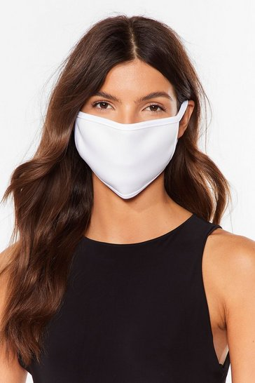 White Breathable Soft Fashion Face Mask