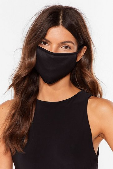 Black Not Just a Pretty Fashion Face Mask