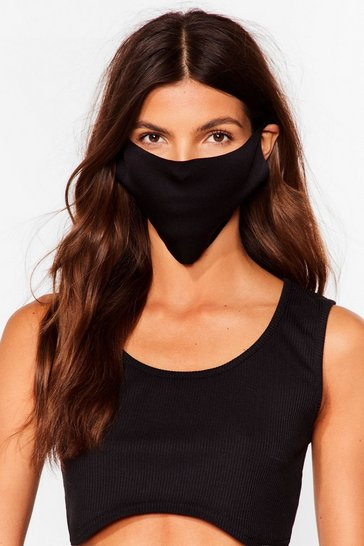 Black No Strings Attached 2-Pc Fashion Face Masks