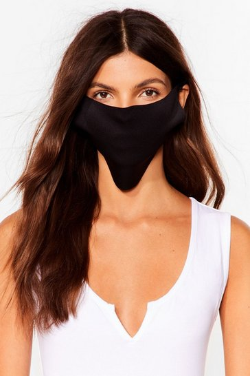 Black No Strings Attached Fashion Face Mask