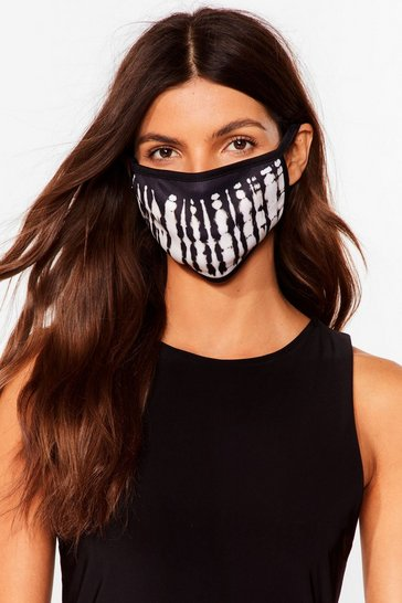 Masque facial fashion effet tie dye, Black