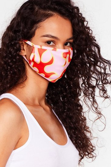 Pink Eternal Flame Fashion Face Mask