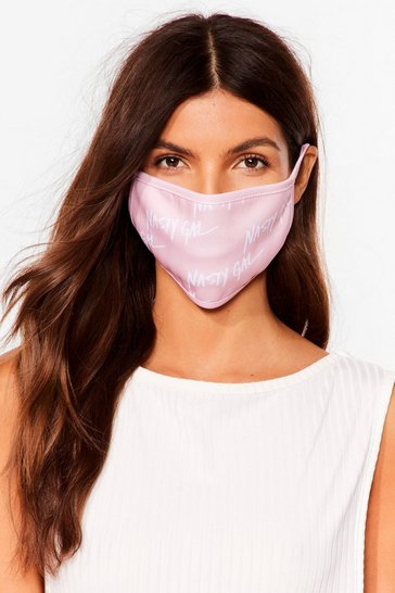 Masque facial fashion à logos Nasty Gal, Pink
