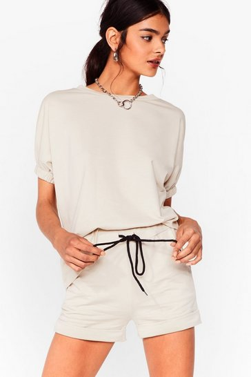 Stone Let's Stay in Relaxed Tee and Shorts
