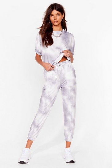 Grey Tie Dye Jogger and Tee Set