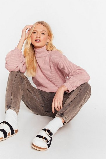 Pink Knit's Now or Never Turtleneck Sweater
