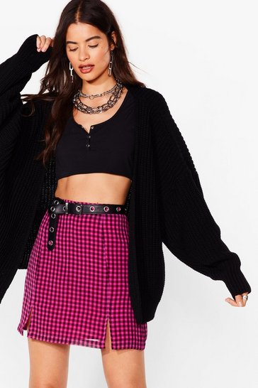 Black Spread Your Batwings Oversized Knit Cardigan