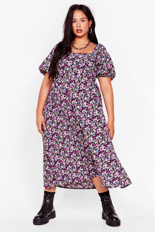 Smock It Off Plus Floral Midi Dress 3