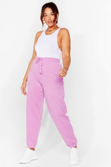 Lilac Run to You Plus Relaxed Joggers