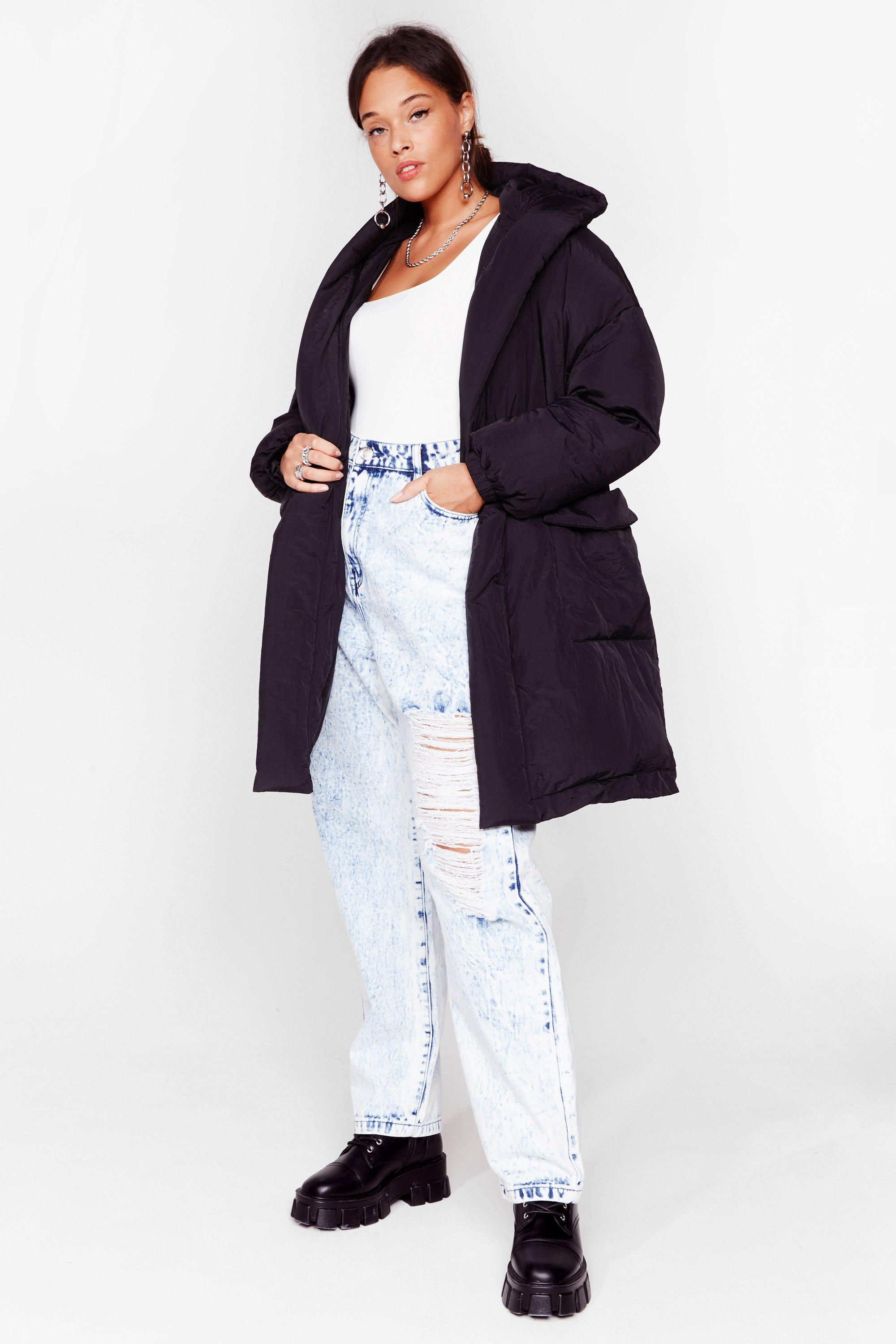 Puff Up the Jam Plus Padded Belted Coats 13