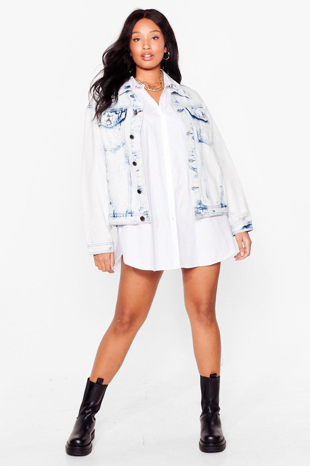 We're Keeping a Wash Out Plus Denim Jacket 13