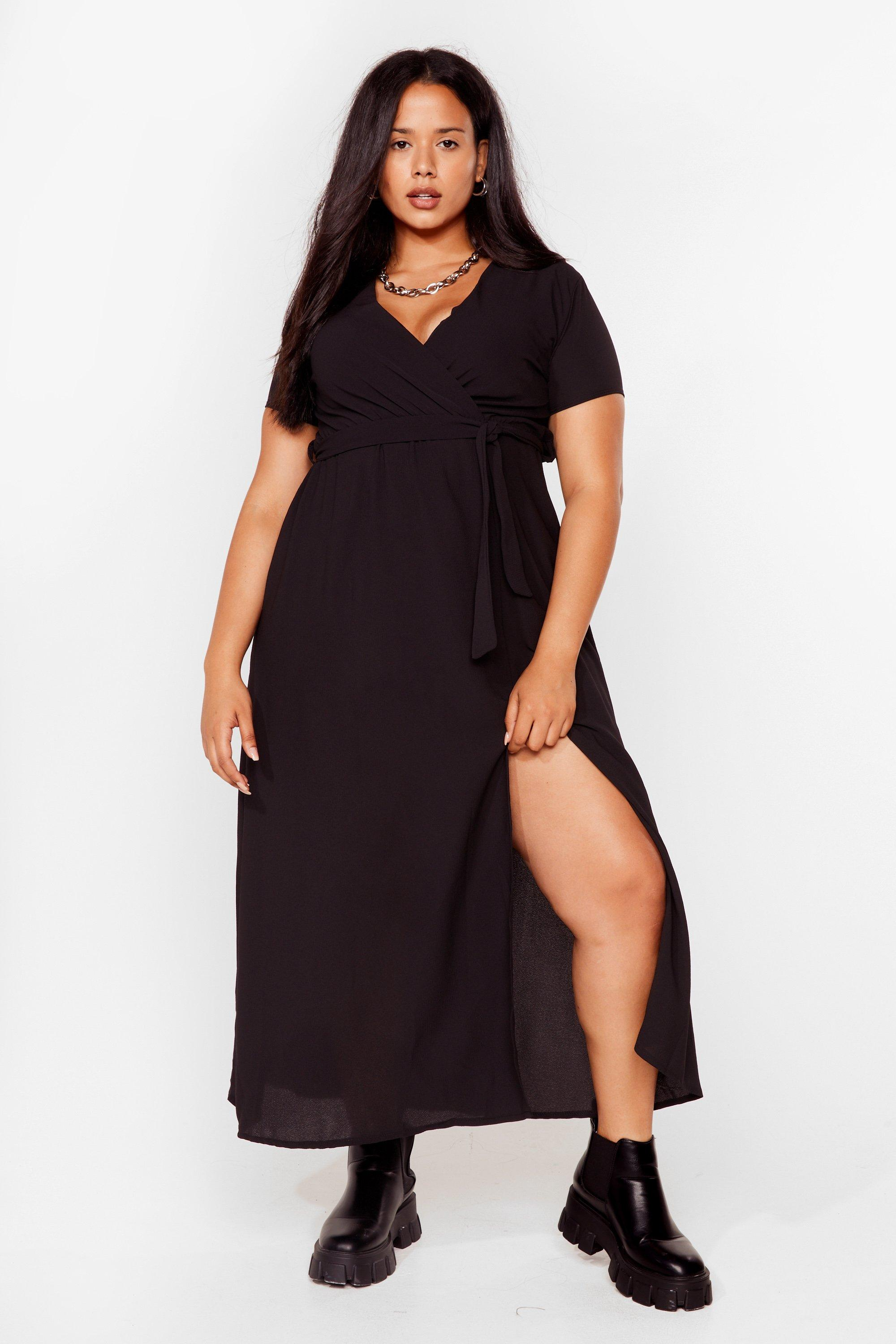 Longing For You Plus Wrap Dress 18