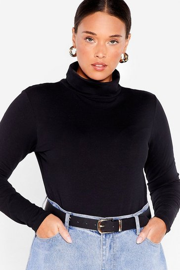 Black We're on a Roll Plus Turtleneck Bodysuit