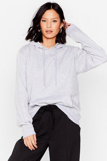 Sweat oversize à capuche Over et contre tout, Grey