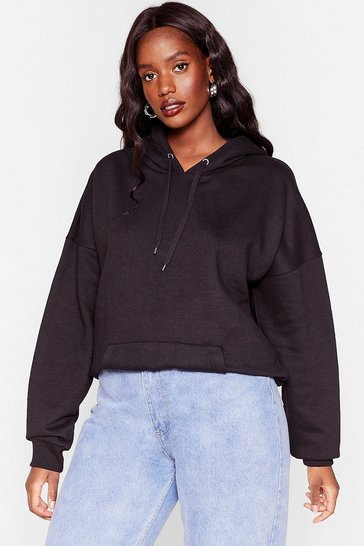 Black The Wait is Over-sized Plus Hoodie