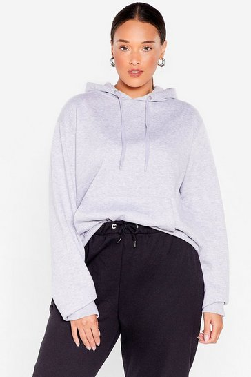 Grey What Chill It Be Plus Relaxed Hoodie
