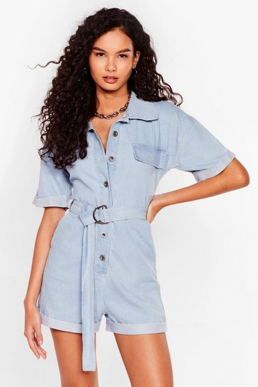 Light blue Denim Playsuit