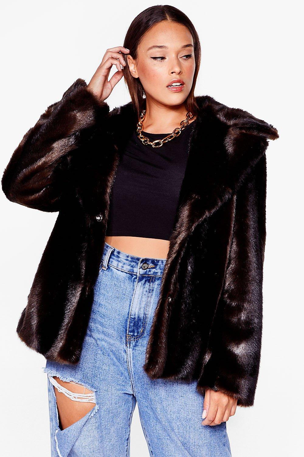 As Your Faux Fur Plus Relaxed Jacket 18