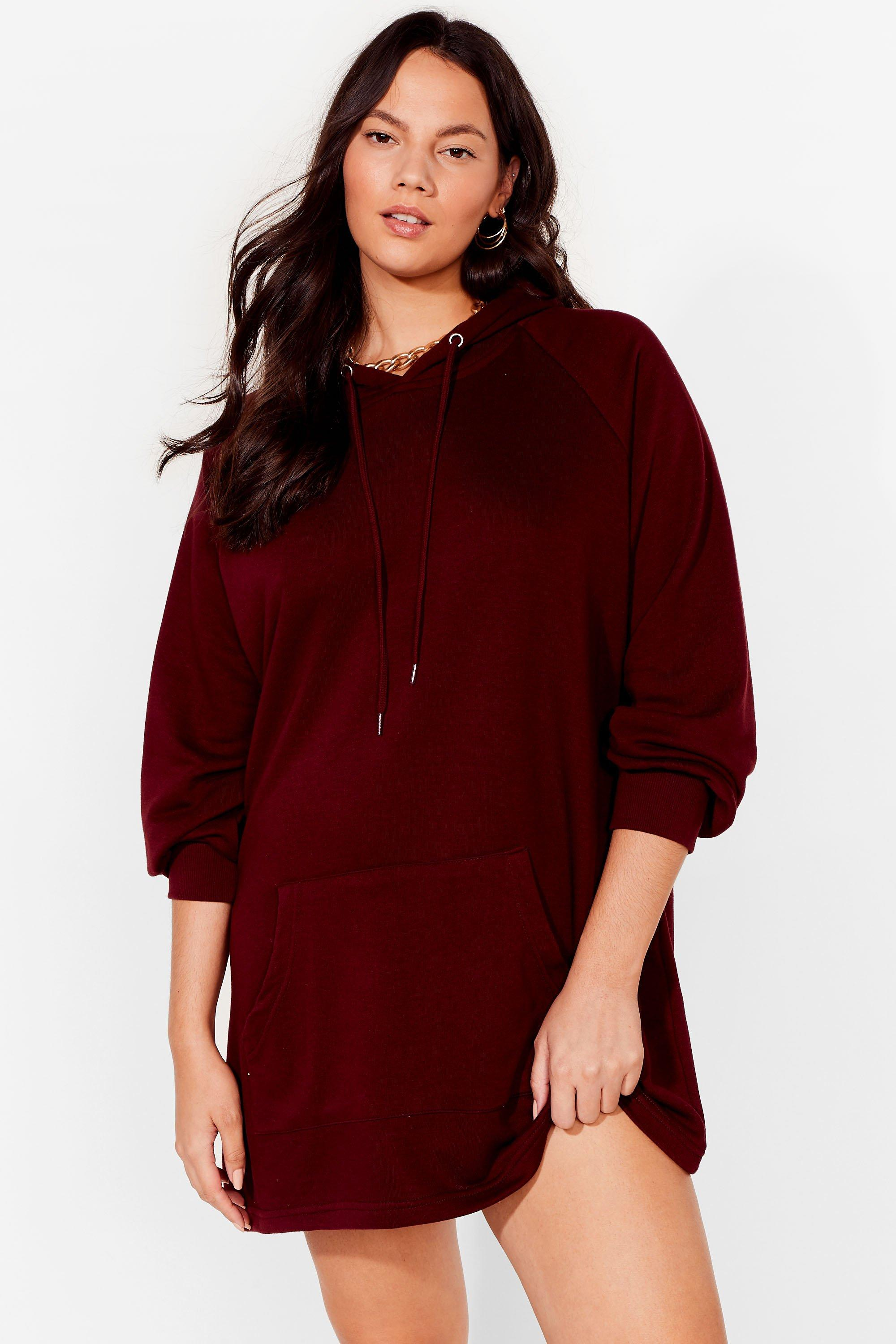 All Night Longline Plus Oversized Hoodie Dress 16