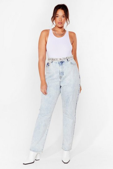 Light blue Acid Wash Our Back Plus High-Waisted Jeans
