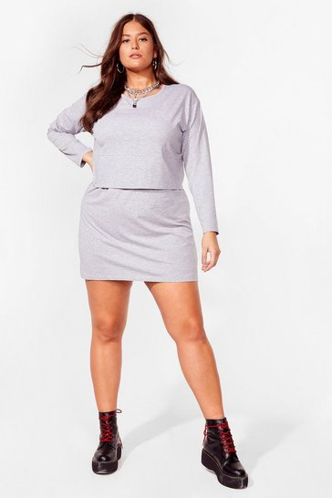 Grey marl When Two Becomes One Plus Tee Dress