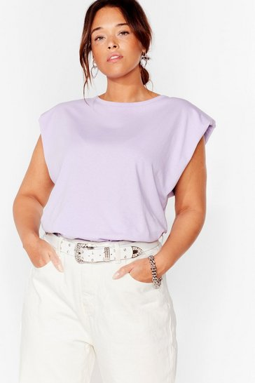 Lilac Shoulder Pad to the Bone Plus Jersey Tank Top