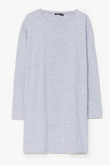 Grey Sleeve Your Mark Plus Tee Dress