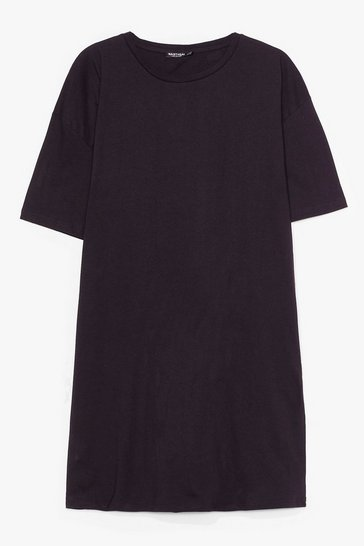 Black Easy Does It Plus Tee Dress