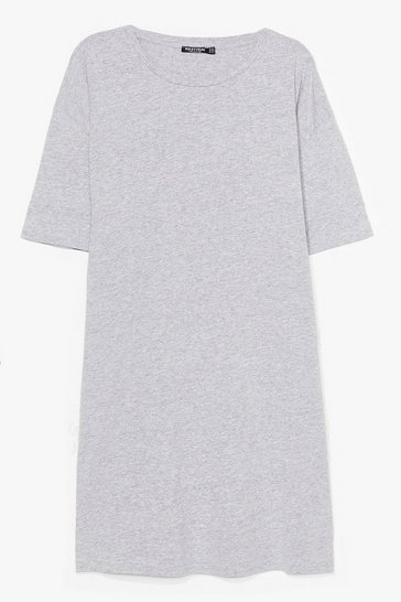 Grey Easy Does It Plus Tee Dress