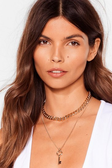 Gold Low Key Layered Chain Necklace