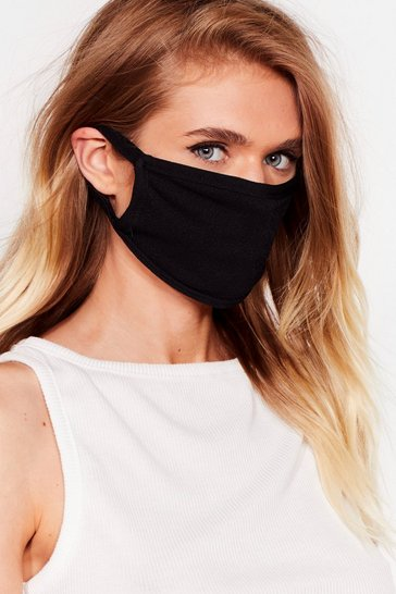Black Face It All Fashion Face Mask