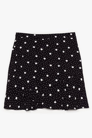 Black It's Polka Dot Easy Plus Mini Skirt