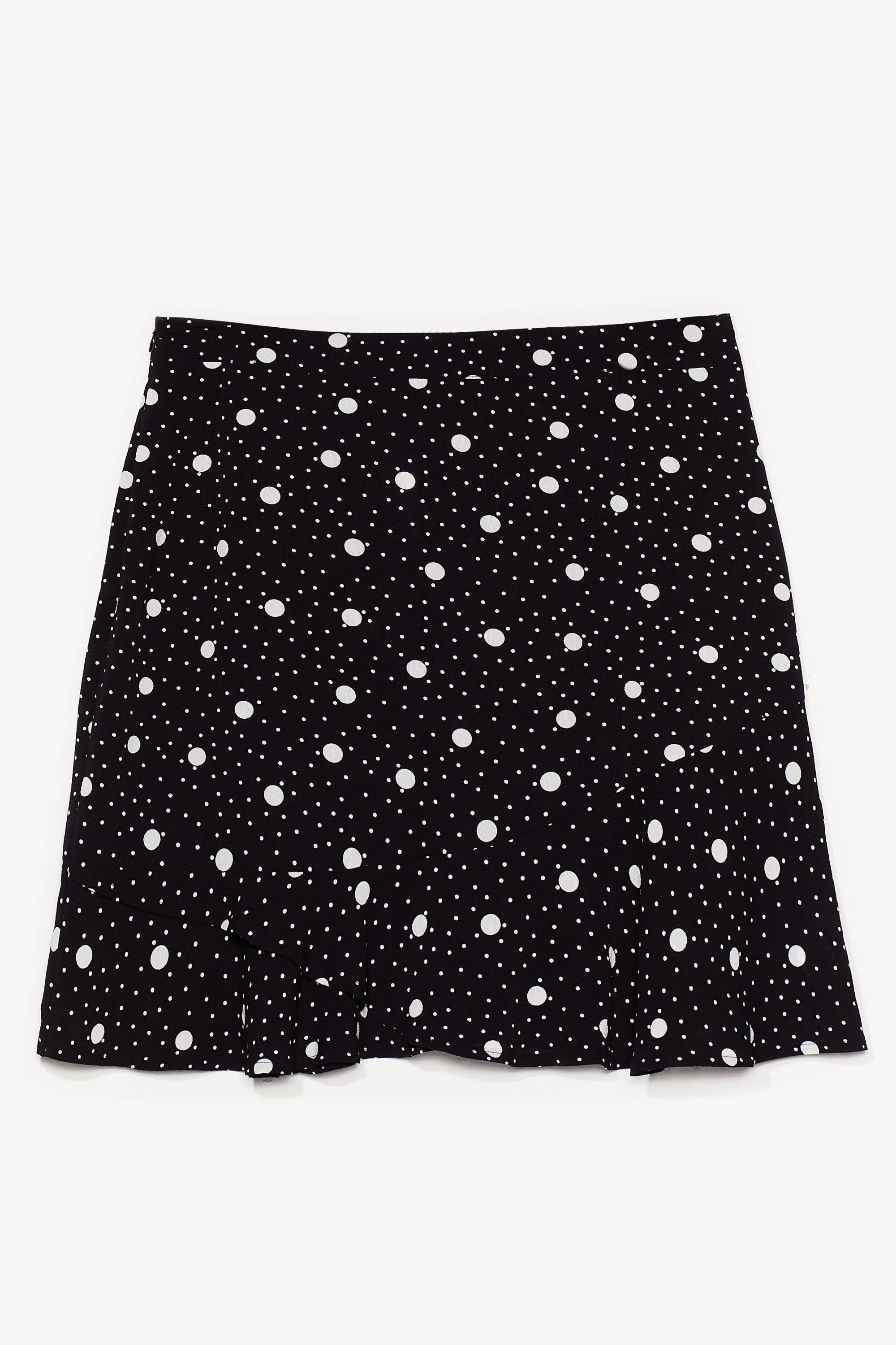 It's Polka Dot Easy Plus Mini Skirt 14