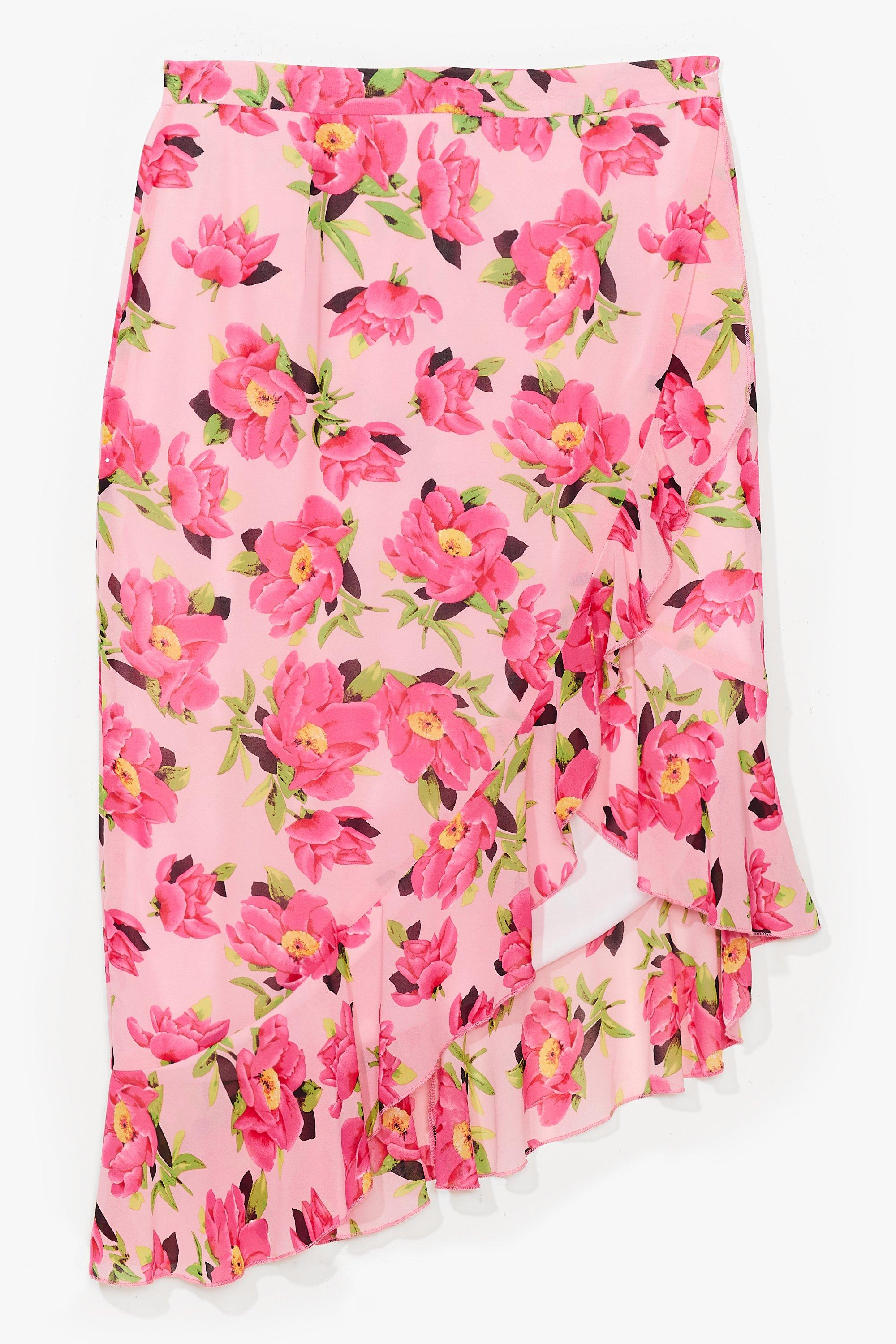 Frill Don't Care Plus Floral Skirt 14