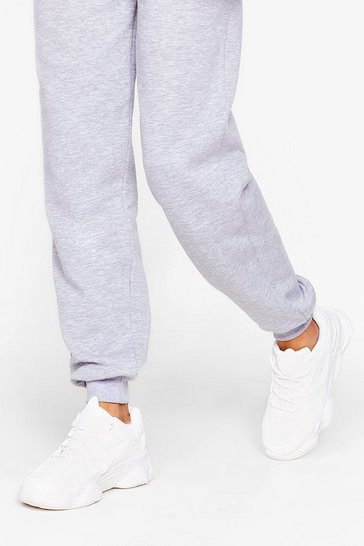 White PU wide fit mono Chunky Sneakers