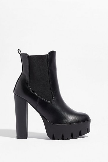 Black The Way You Make Me Heel Platform Boots