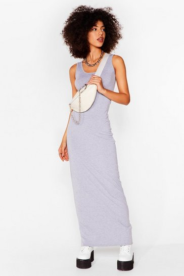 Grey Bodycon Artist Scoop Neck Maxi Dress