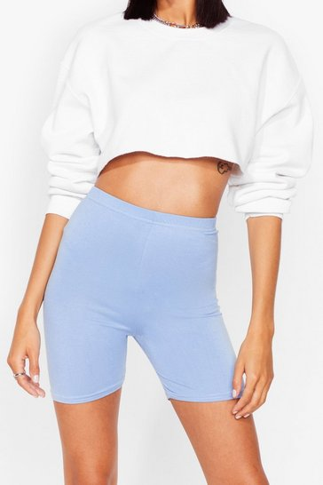 Lilac On Your Bike High-Waisted Shorts