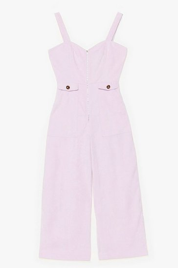 Who Do You Think You'Re Kidding Corduroy Jumpsuit, Lilac