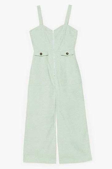 Who Do You Think You'Re Kidding Corduroy Jumpsuit, Mint