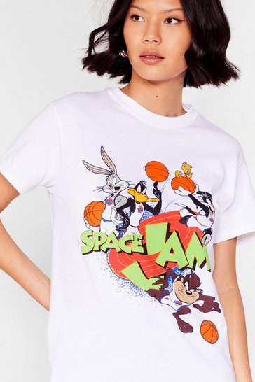 White Basketballs in Your Court Space Jam Graphic Tee