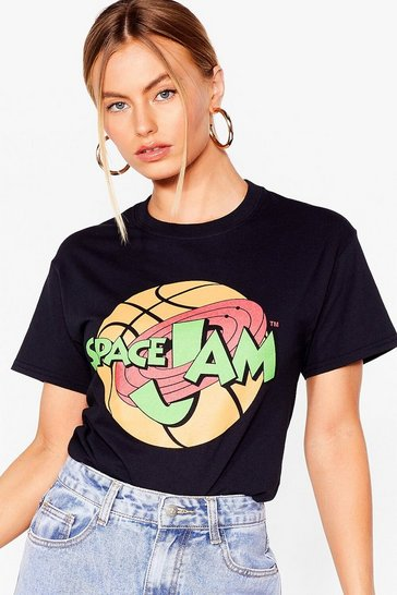 Black Pump Up the Space Jam Graphic Tee